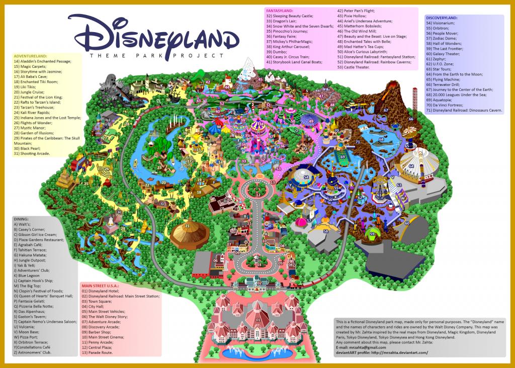 Printable Map Of Disneyland Paris Park Hotels And Surrounding Area Pdf - Disneyland Map 2018 California