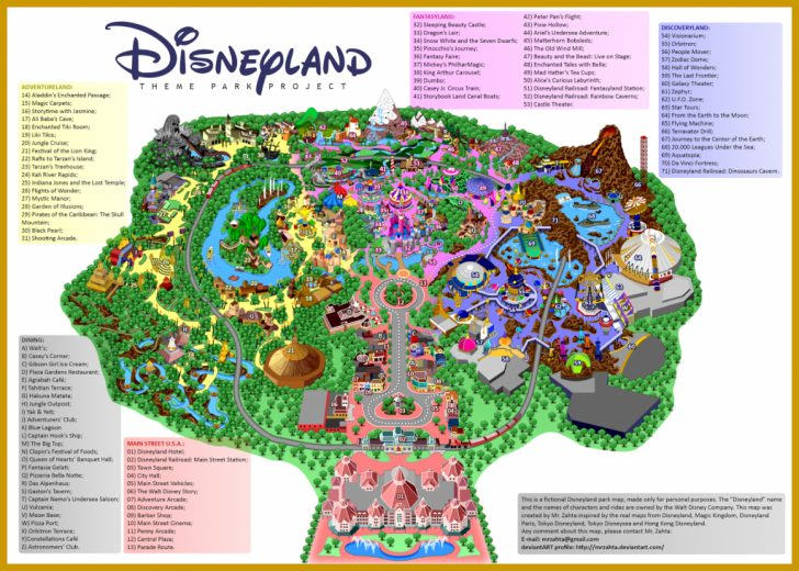 Printable Map Of Disneyland And California Adventure