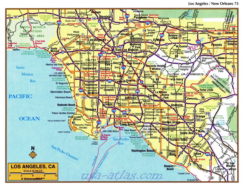 Printable Map Of Downtown Los Angeles And Travel Information - Printable Map Of Los Angeles