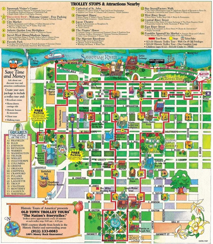 Printable Map Of Historic Savannah | Reasons Why Savannah Is The - Printable Map Of Savannah