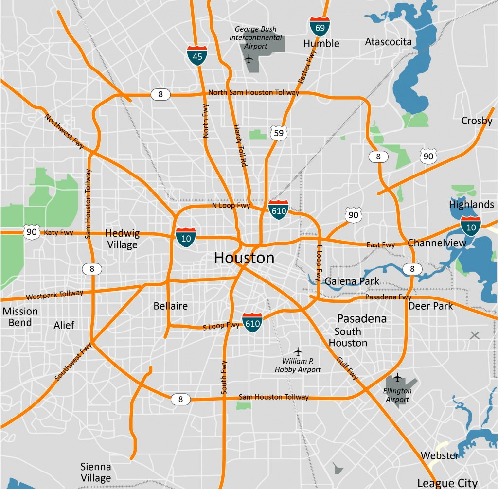 Printable Map Of Houston (69+ Images In Collection) Page 1 - Printable Map Of Houston