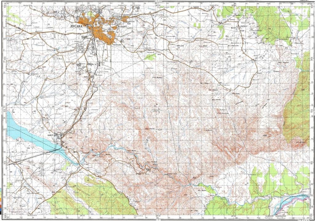 Printable Map Of Lusaka | City Maps - Printable Map Of Lusaka