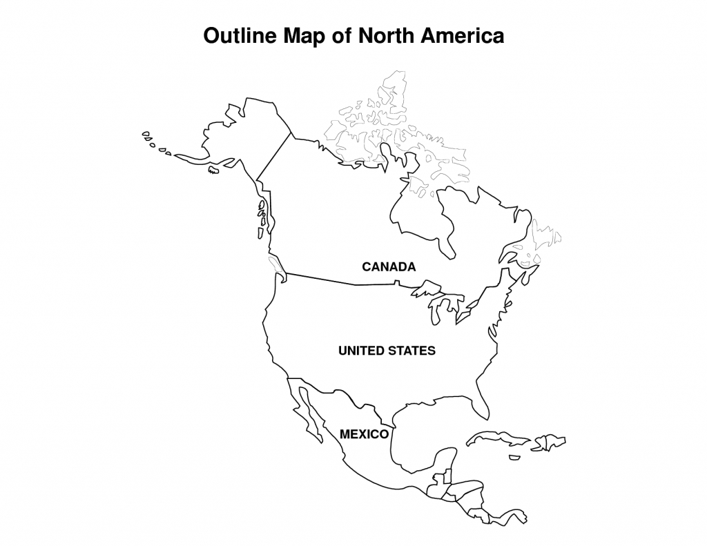 Printable Map Of North America   Pic Outline Map Of North America - Free Printable Map Of North America