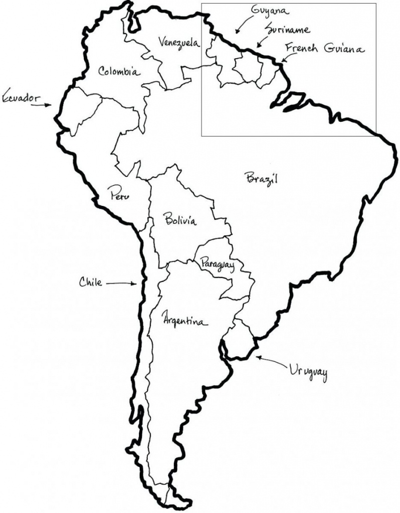 Printable Map Of North And South America And Travel Information - Free Printable Map Of North America