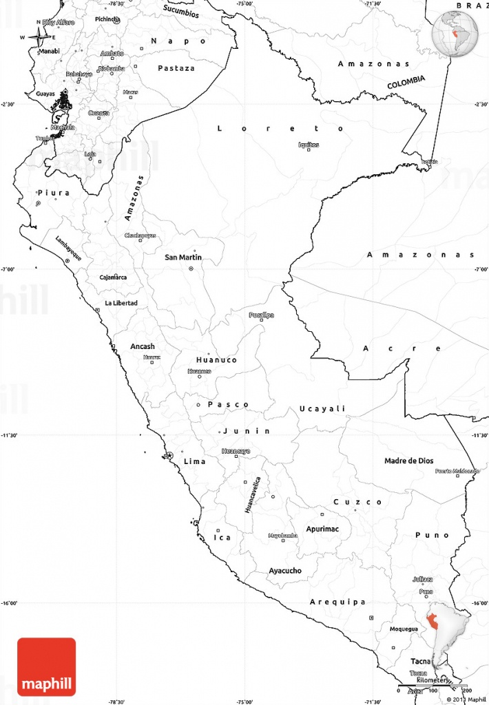 Printable Map Of Peru And Travel Information | Download Free - Printable Map Of Peru