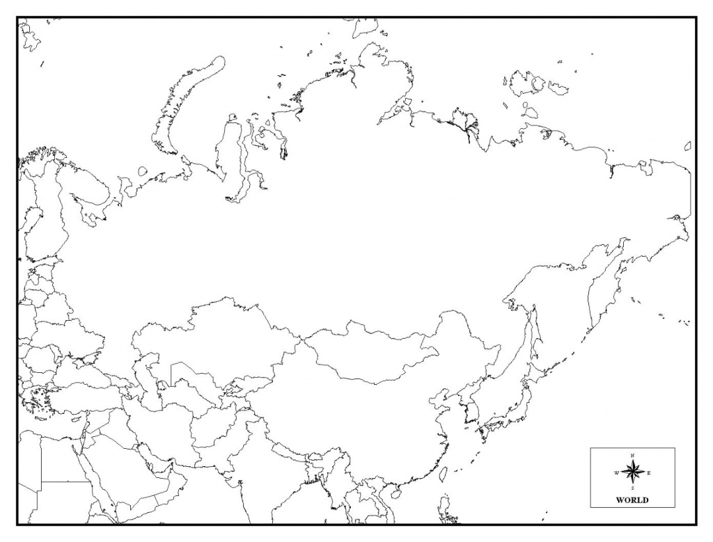 Printable Map Of Russia - Coloring Home - Outline Map Of Russia Printable