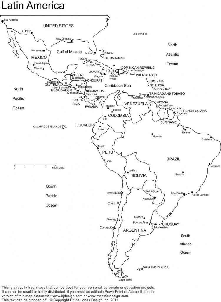 Printable Map Of South America 7 - World Wide Maps - Printable Map Of Latin America