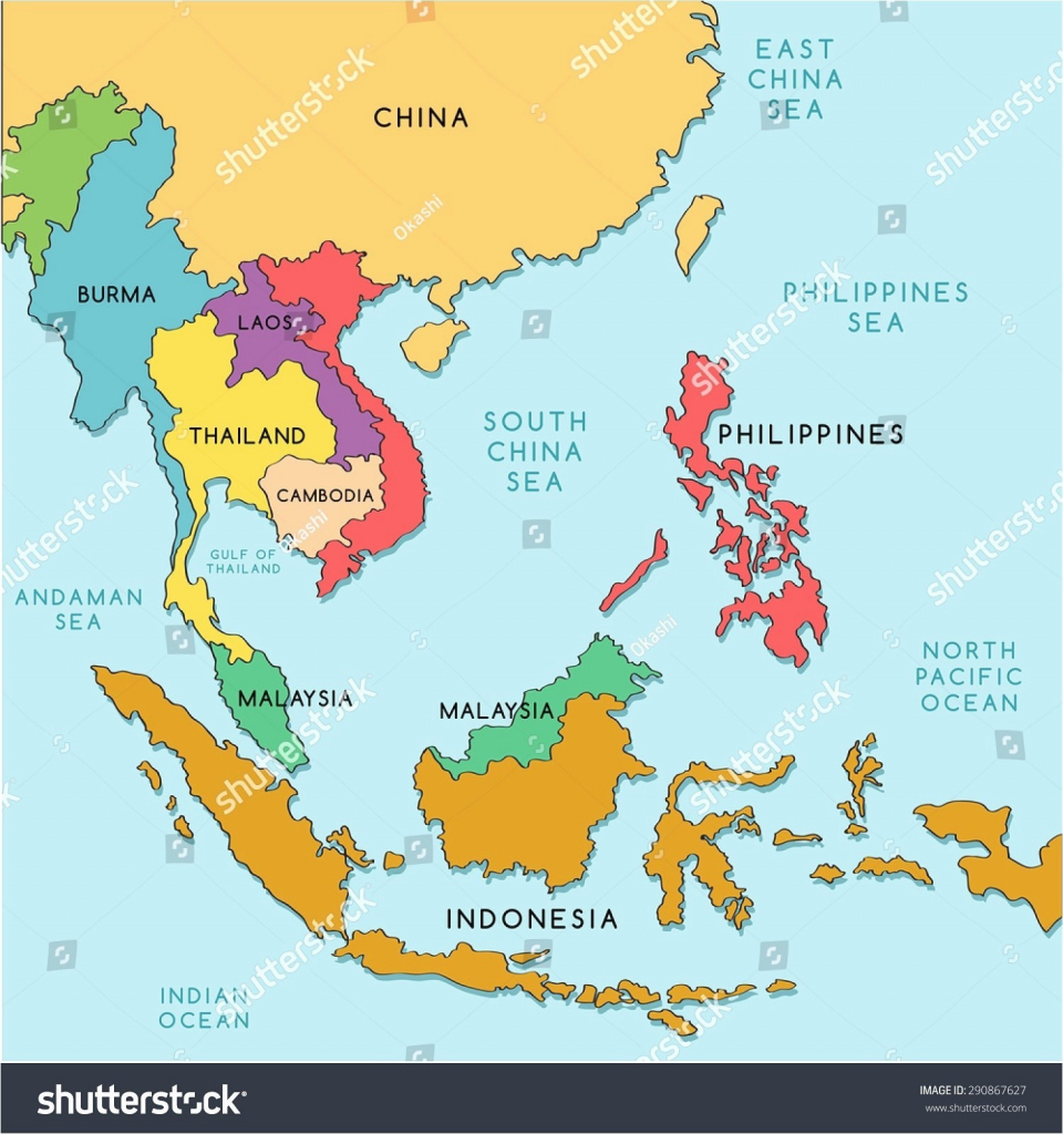 Printable Map Of South East Asia Recent Download And Southeast - Printable Map Of Asia