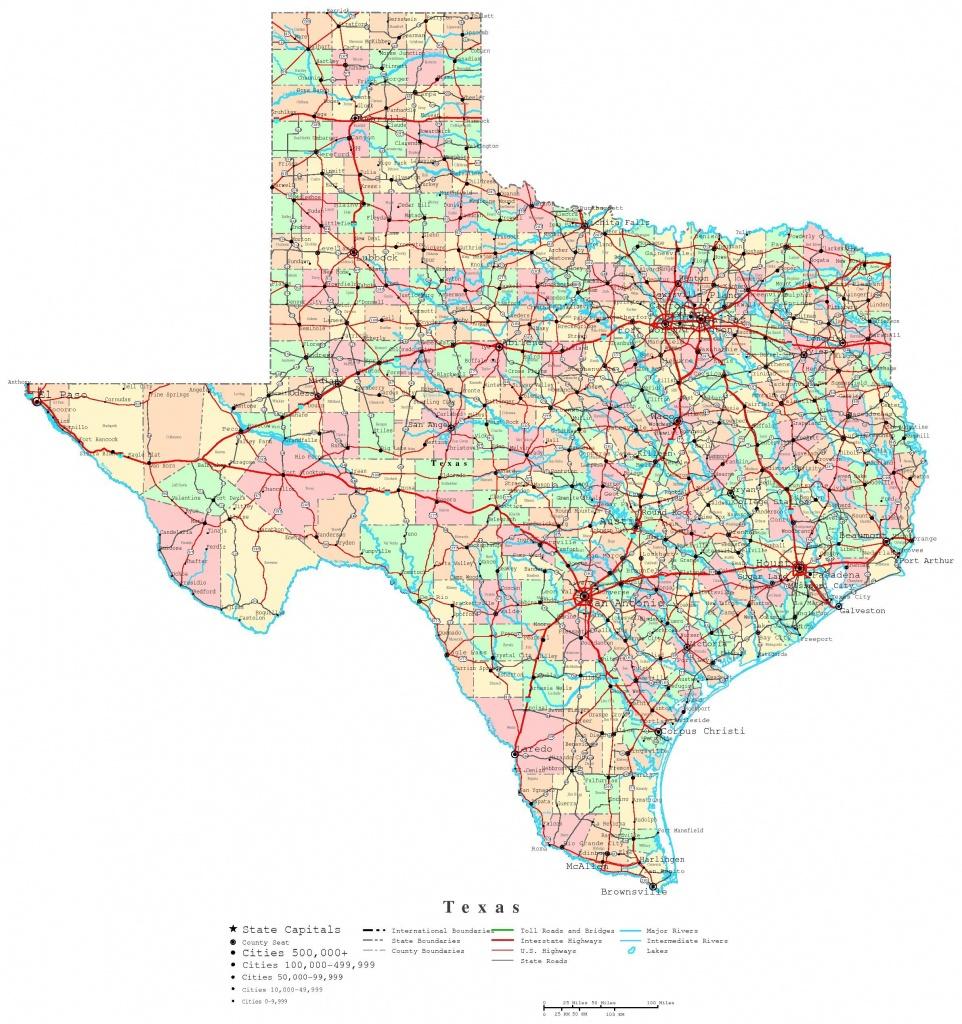 Printable Map Of Texas | Useful Info | Printable Maps, Texas State - Printable State Maps With Counties