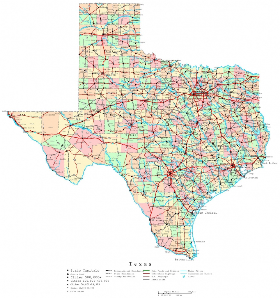Printable Map Of Texas | Useful Info | Printable Maps, Texas State - Texas County Map With Roads