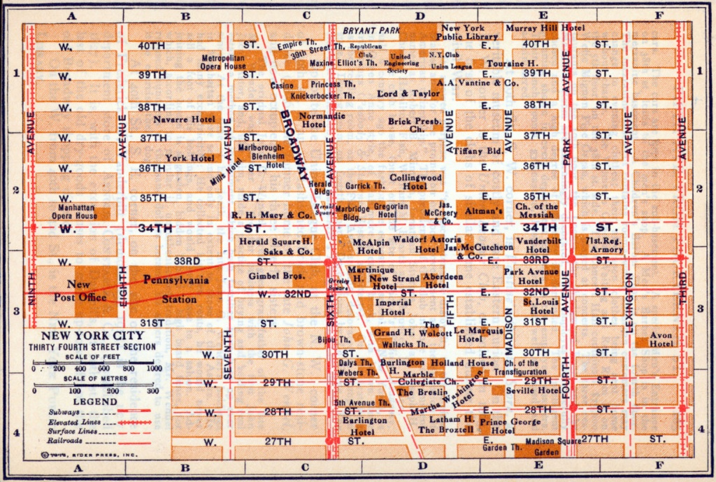 Printable Map Of Times Square Nyc And Travel Information | Download - Printable Map Of Times Square