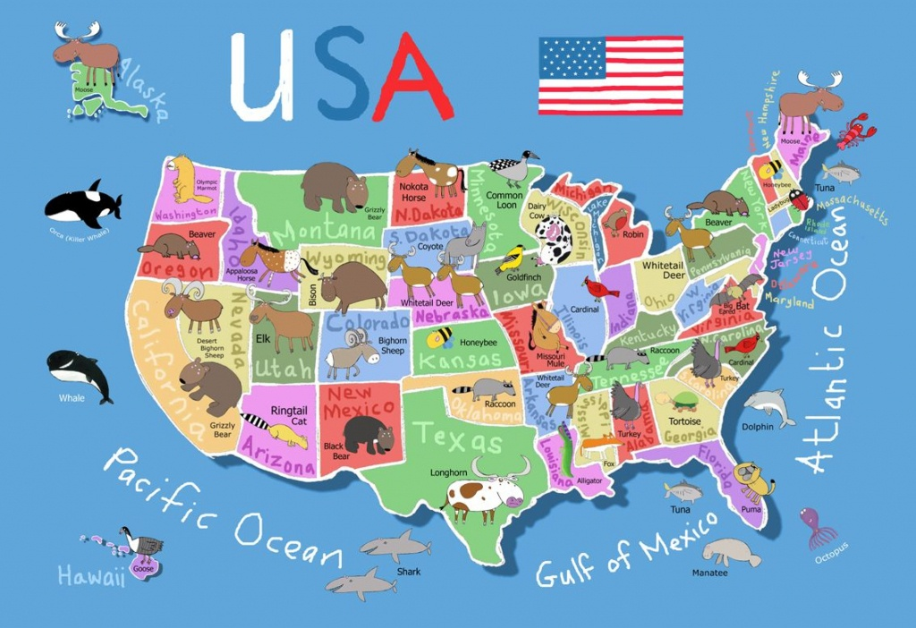 Printable Map Of Usa For Kids | Its's A Jungle In Here!: July 2012 - Printable Maps For Children