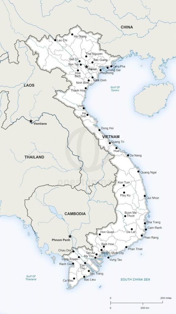 Printable Map Of Vietnam | Printable Maps | Geography | Map, Vietnam - Printable Map Of Vietnam