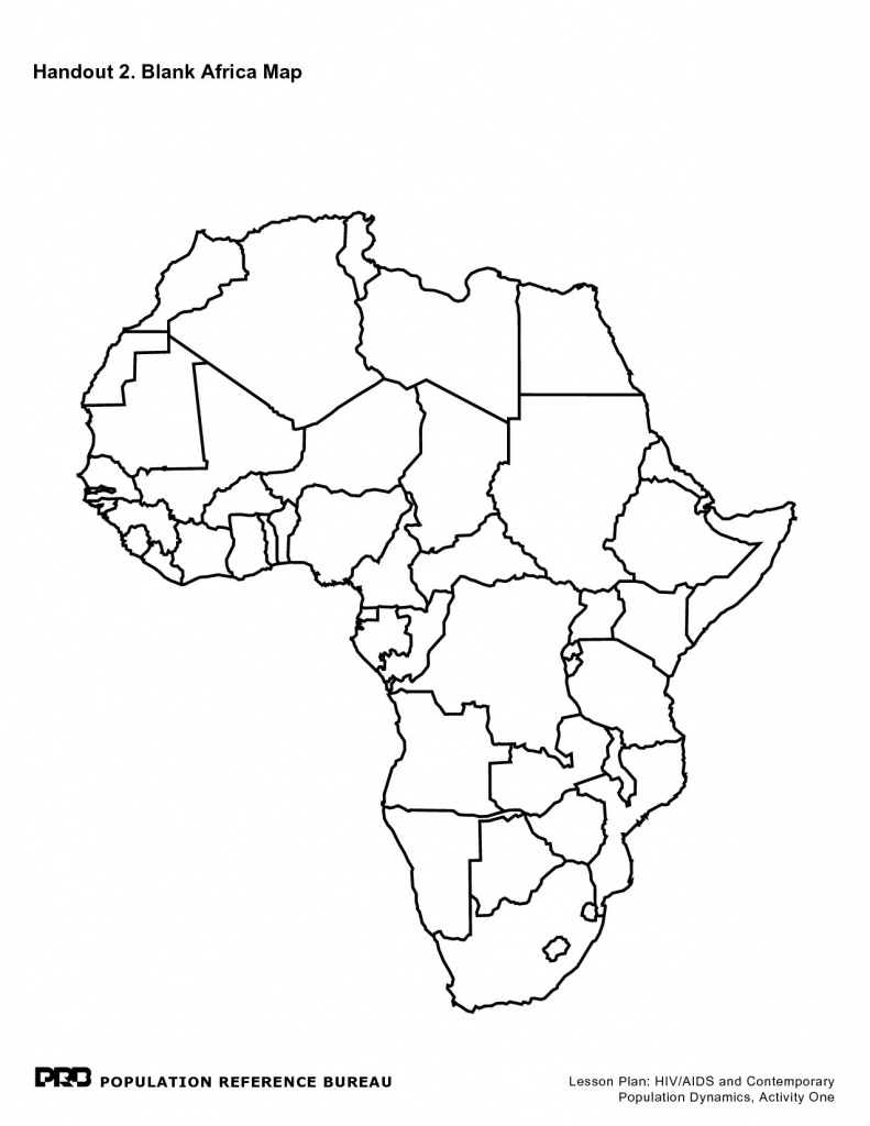 Printable Maps Of Africa - Maplewebandpc - Blank Political Map Of Africa Printable