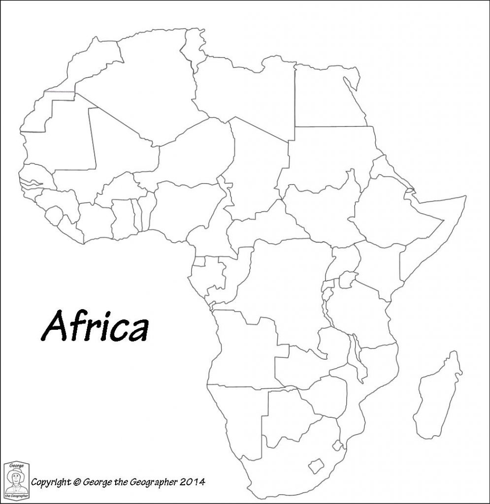 Printable Maps Of Africa | Sitedesignco - Map Of Africa Printable Black And White