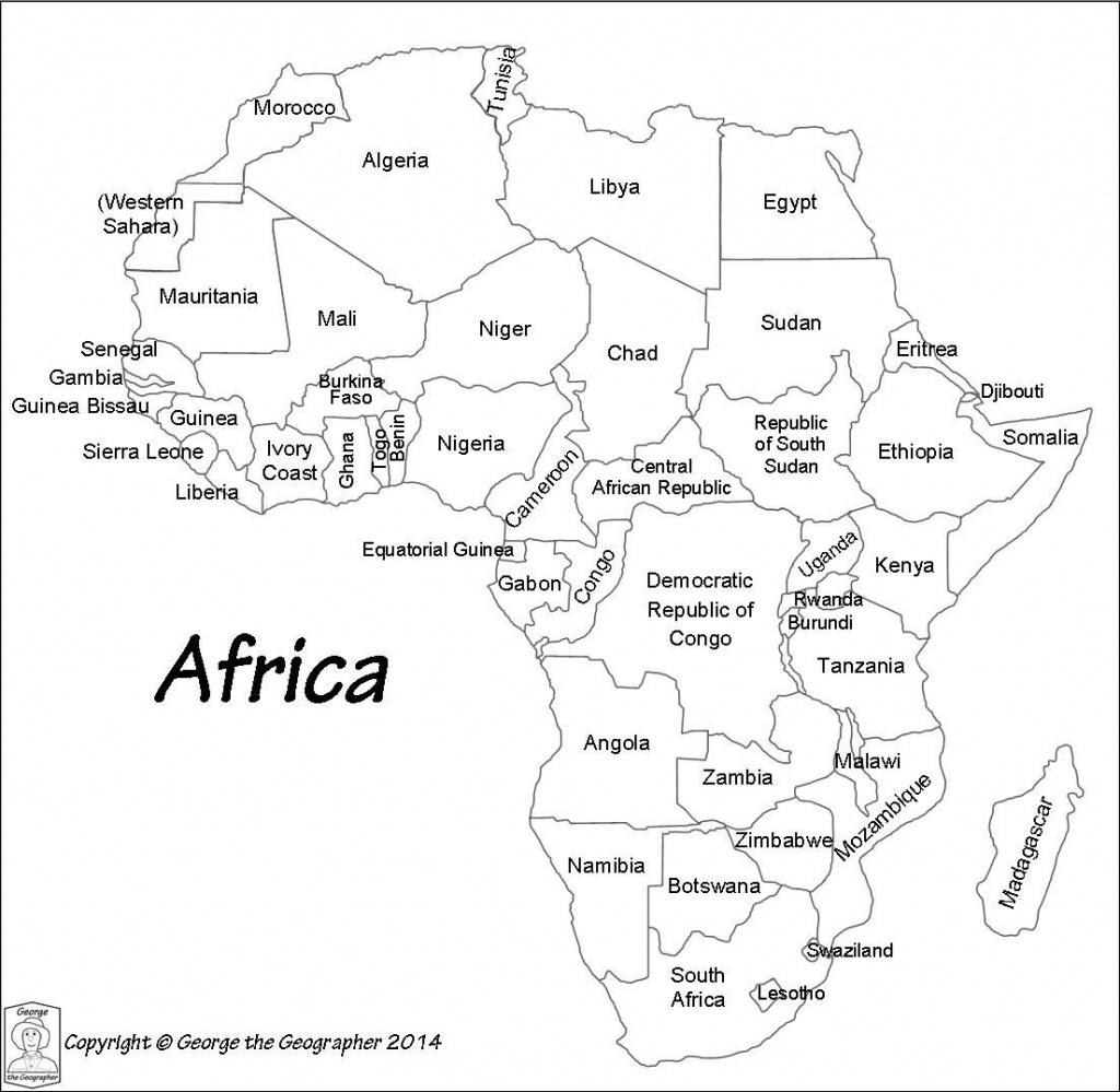 Printable Maps Of Africa - World Map - Printable Map Of Africa