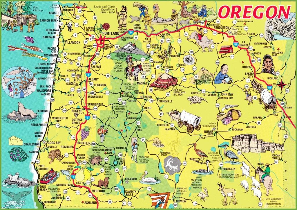 Printable Maps Of Oregon | Sitedesignco - Printable Map Of The Oregon Trail