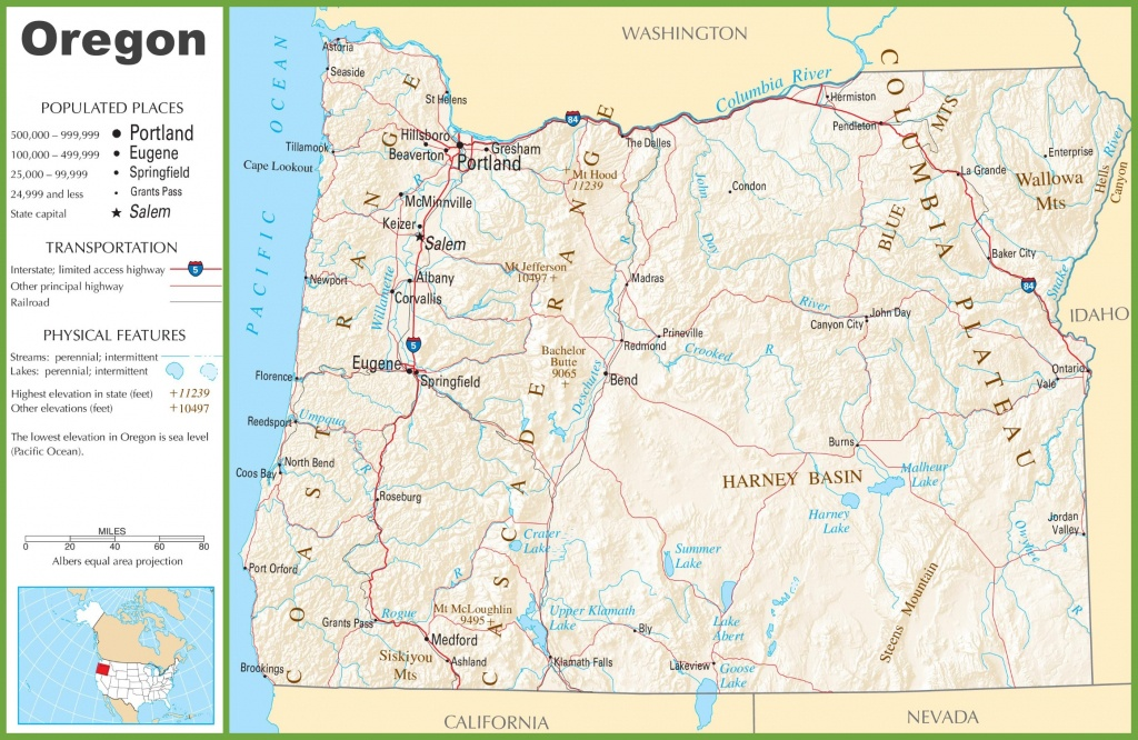 Printable Maps Of Oregon | Sksinternational - Oregon Road Map Printable