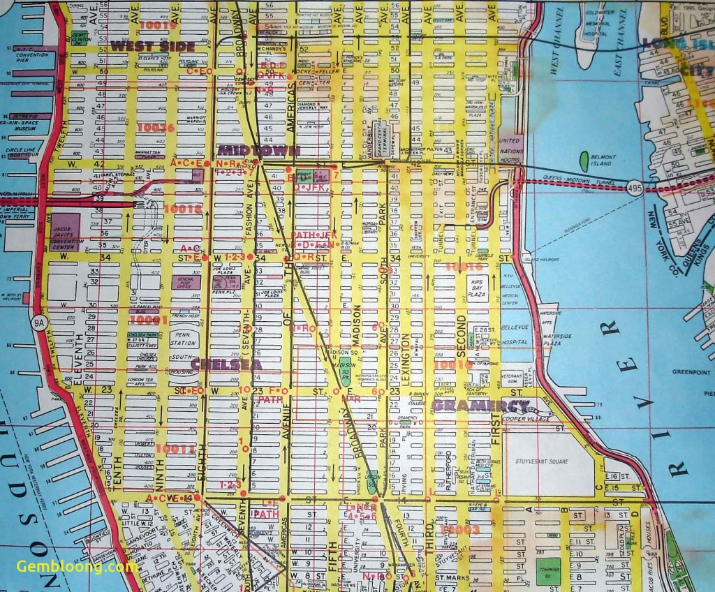 Printable New York Street Map - Capitalsource - York Street Map Printable