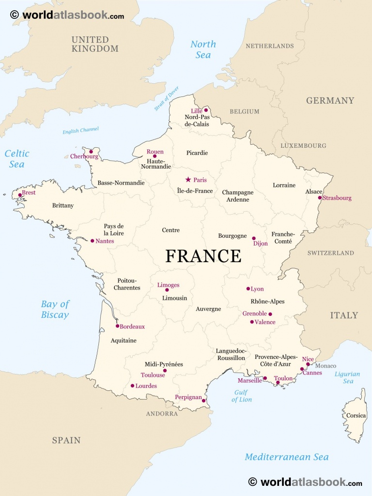 Printable Outline Maps For Kids | Map Of France Outline Blank Map Of - Printable Map Of France With Cities And Towns