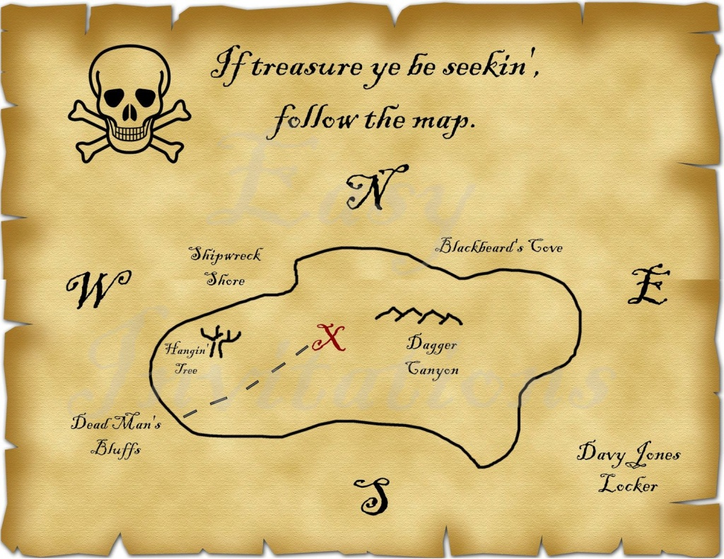 Printable Pirate Treasure Map Best Photos Of Template Blank - Printable Treasure Map Template