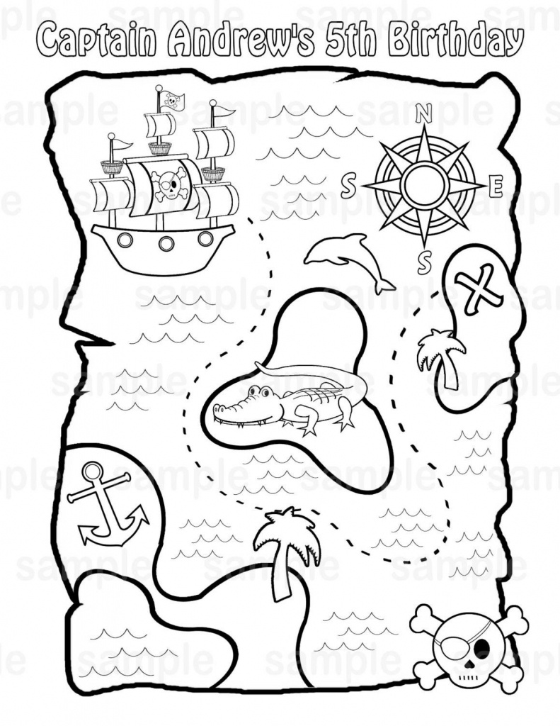 Printable Pirate Treasure Map For Kids✖️adult Coloring Pages➕More - Make Your Own Treasure Map Printable