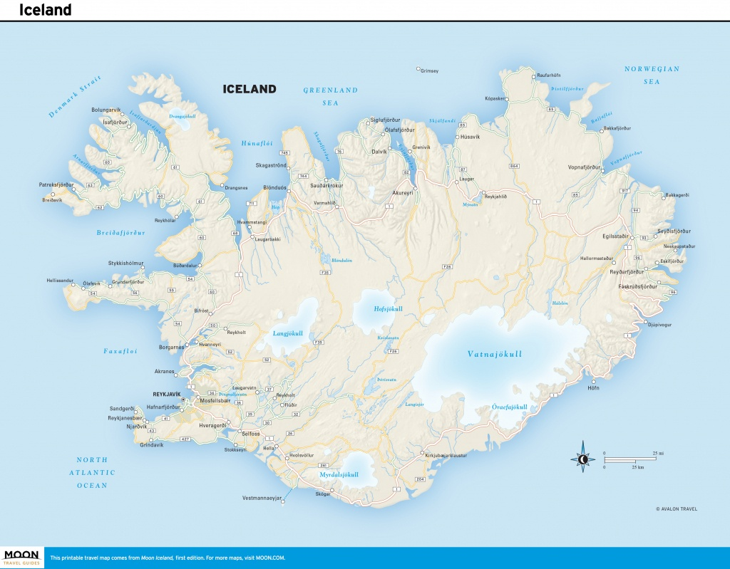 Printable Road Map Of Iceland And Travel Information | Download Free - Printable Road Trip Maps