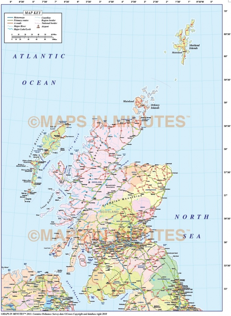 Printable Road Map Of Scotland And Travel Information | Download - Printable Road Map Of Scotland