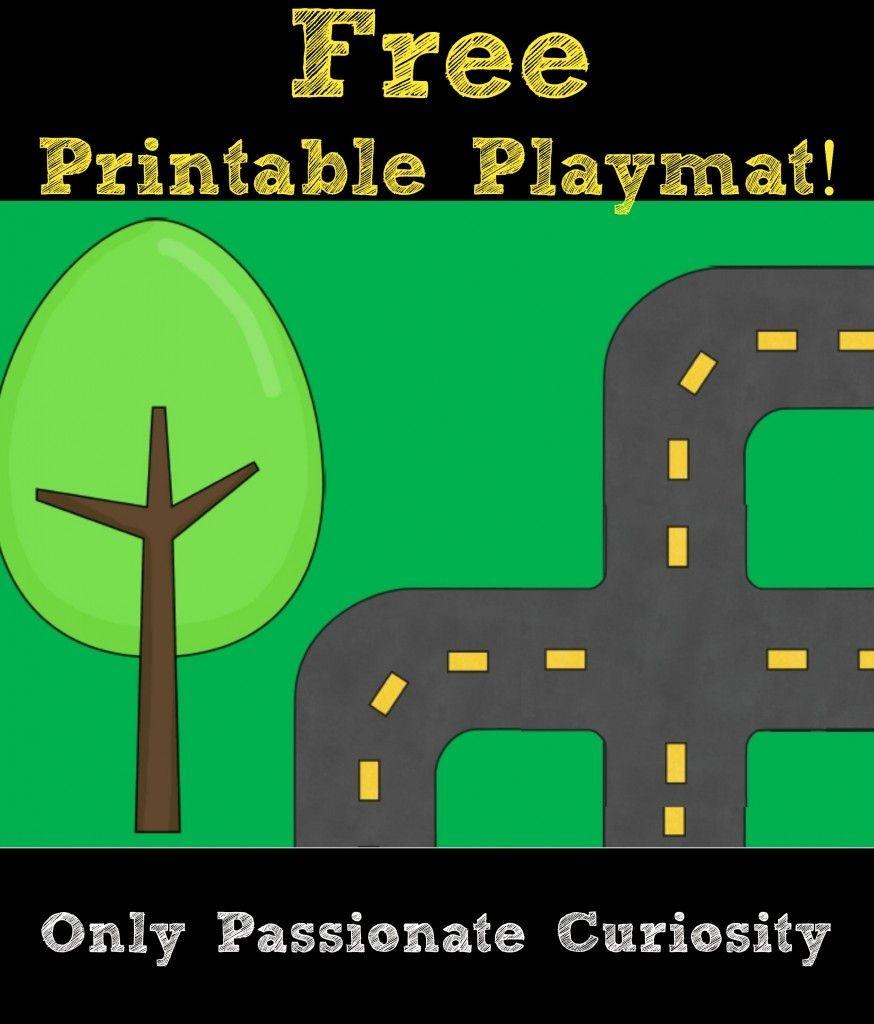 Printable Road Playmat And German Road Signs | Preschool | Community - Free Printable Road Maps For Kids