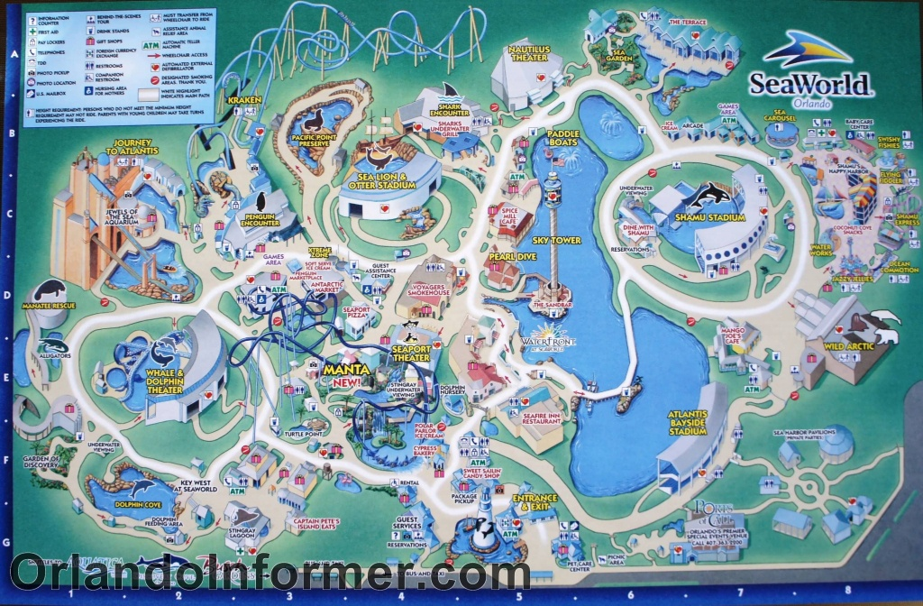 Printable Seaworld Map | Scenes From Seaworld Orlando 2011 - Photo - Printable Sea World Map