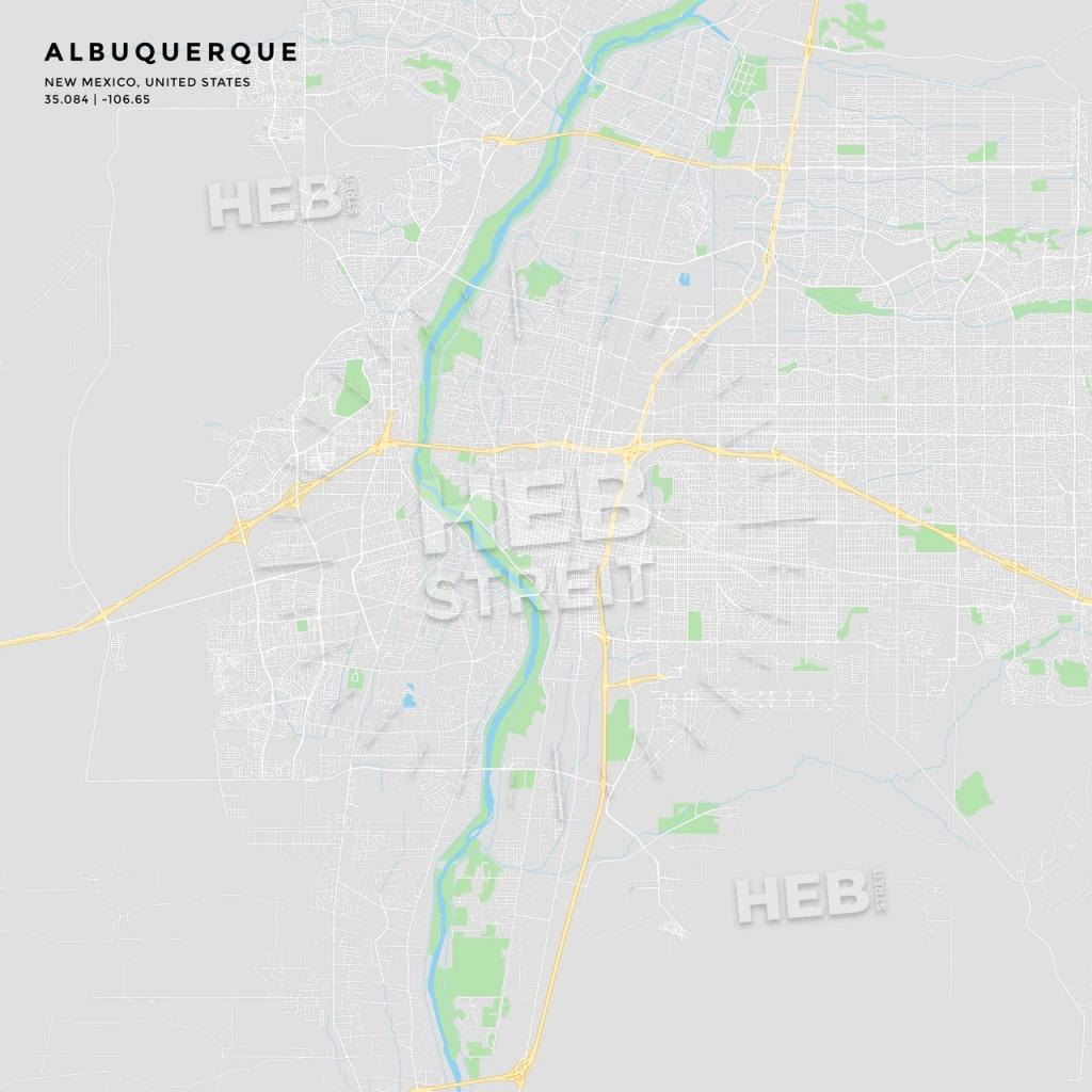 Printable Street Map Of Albuquerque, New Mexico   Hebstreits Sketches - Printable Map Of Albuquerque