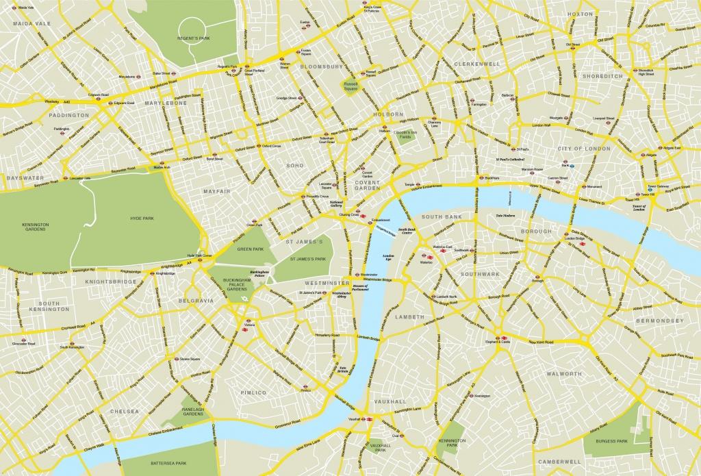 Printable Street Map Of Central London Within - Capitalsource - Central London Map Printable