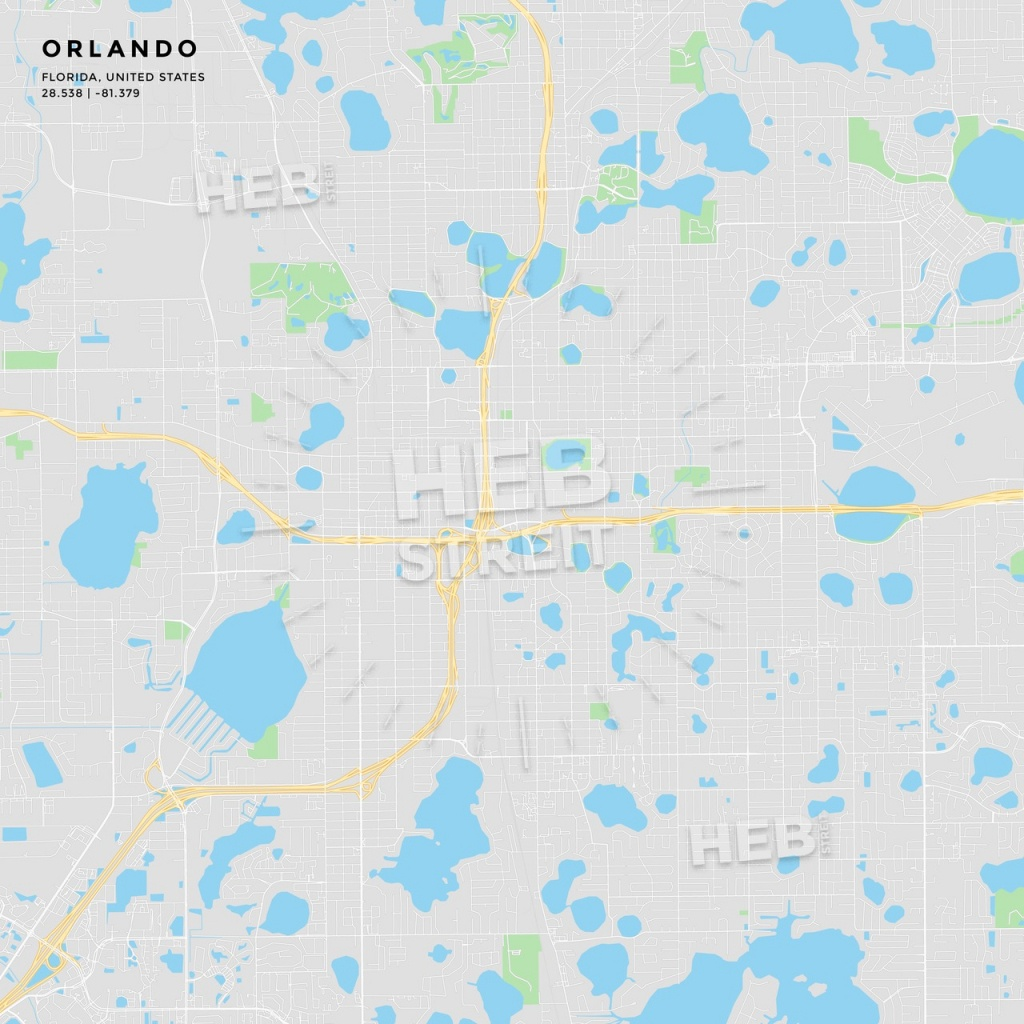 Printable Street Map Of Orlando, Florida | Hebstreits Sketches - Florida Street Map