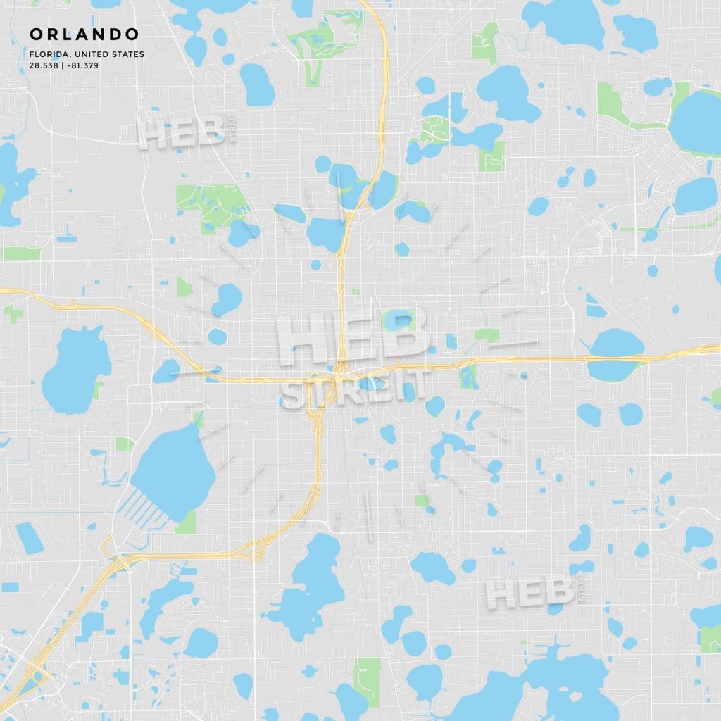 Printable Street Map Of Orlando, Florida | Hebstreits Sketches - Street Map Of Orlando Florida