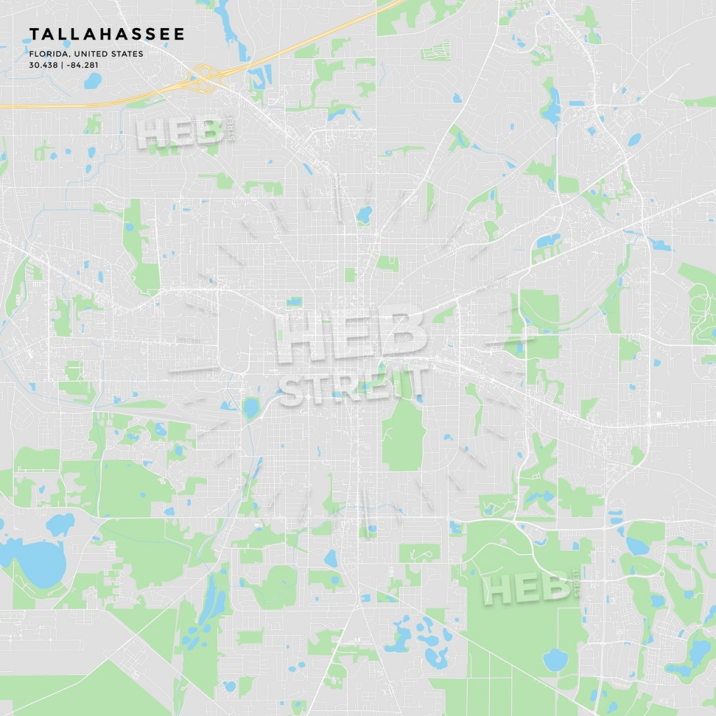 Printable Street Map Of Tallahassee, Florida | Hebstreits Sketches - Florida Street Map