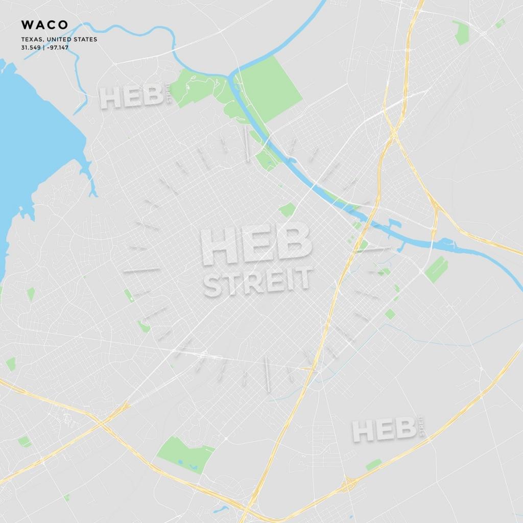 Printable Street Map Of Waco, Texas   Hebstreits Sketches - Printable Map Of Waco Texas