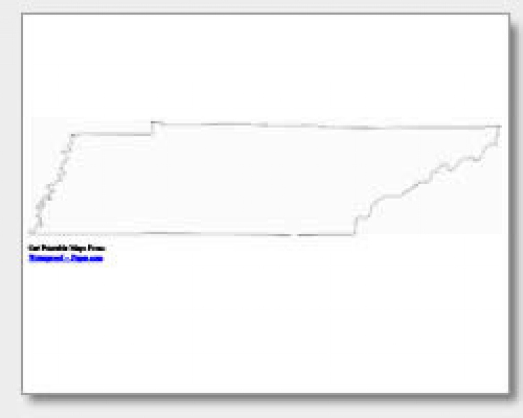 Printable Tennessee Maps | State Outline, County, Cities - Printable Map Of Tennessee