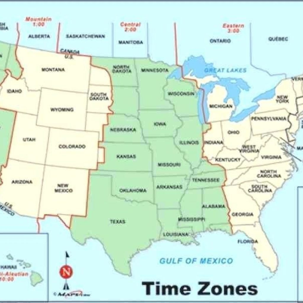 Printable Time Zone Map Change Show Me A Of Us Zones United States - Printable Time Zone Map Usa With States