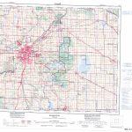 Printable Topographic Map Of Edmonton 083H, Ab   Printable Map Of Edmonton