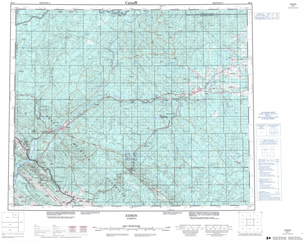 Printable Topographic Map Of Edson 083F, Ab - Printable Topo Maps Online