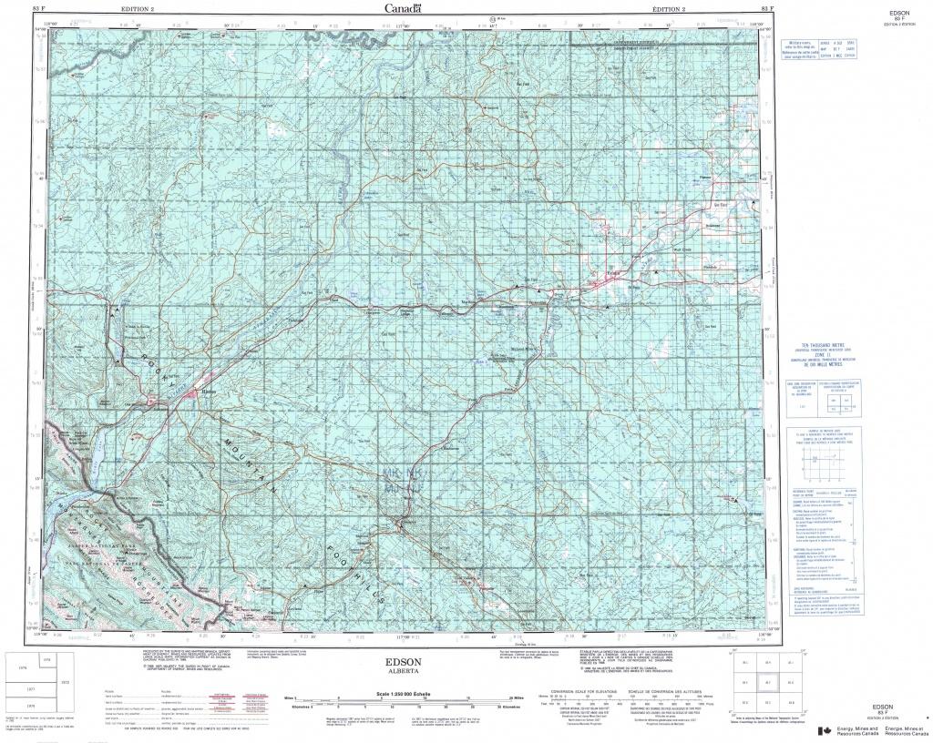 Printable Topographic Map Of Edson 083F, Ab - Printable Topographic Maps Free