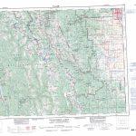 Printable Topographic Map Of Kananaskis Lakes 082J, Ab   Printable Topographic Maps Free