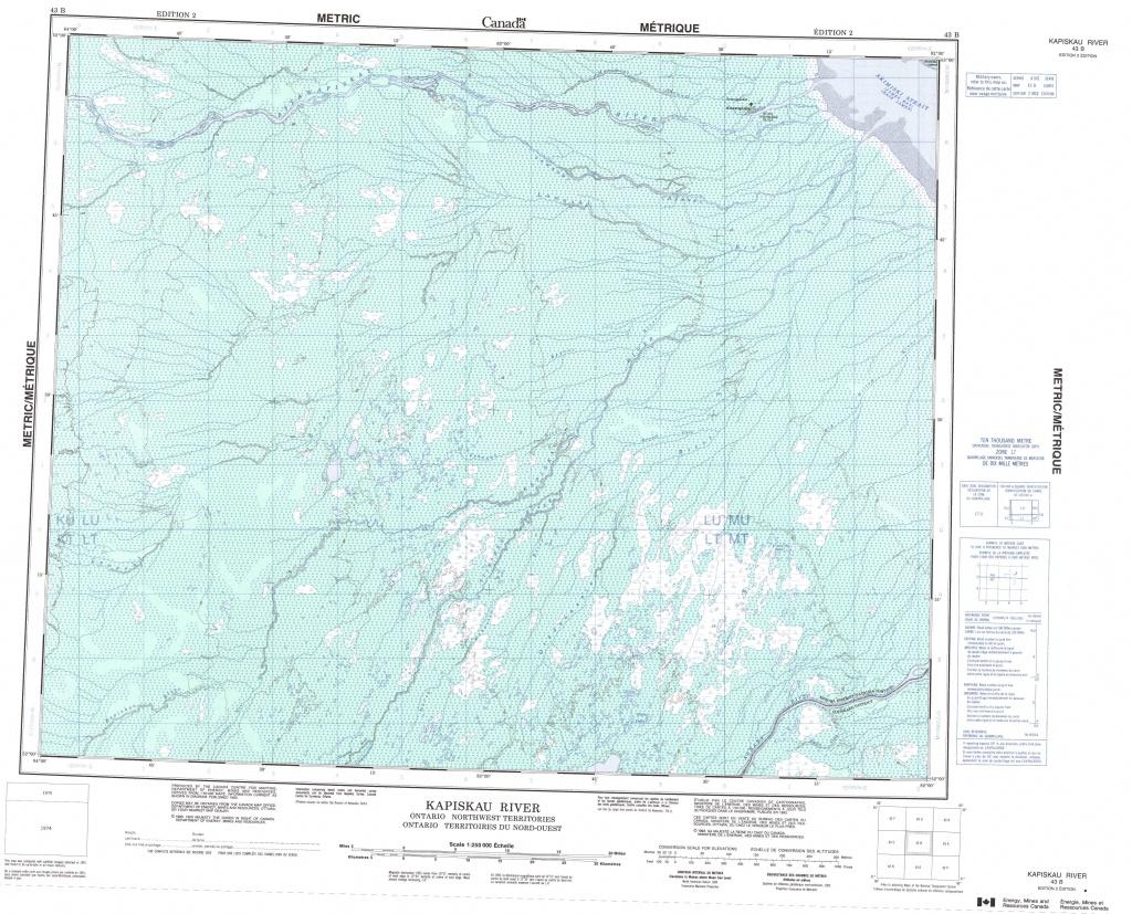 Printable Topographic Map Of Kapiskau River 043B, Nu - Free Printable Topo Maps Online