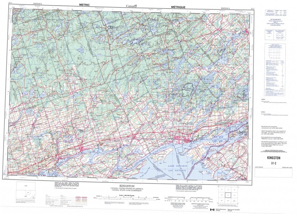 Printable Topographic Map Of Kingston 031C, On - Printable Usgs Maps