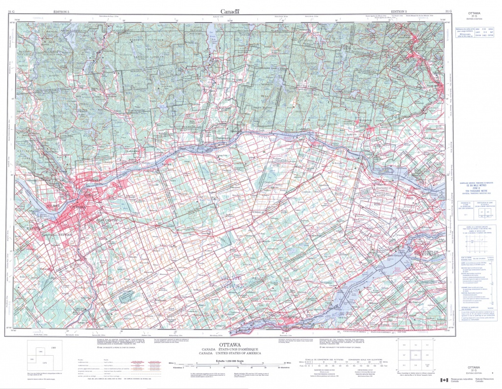 Printable Topographic Map Of Ottawa 031G, On - Topographic Map Printable