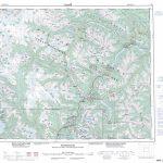 Printable Topographic Map Of Pemberton 092J, Bc   Printable Topo Maps Online