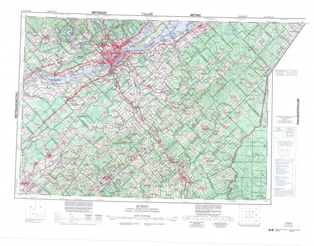 Printable Topographic Map Of Quebec 021L, Qc - Printable Topo Maps