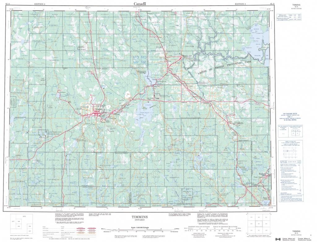 Printable Topographic Map Of Timmins 042A, On - Free Printable Topo Maps