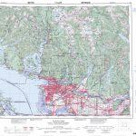 Printable Topographic Map Of Vancouver 092G, Bc   Printable Topo Maps