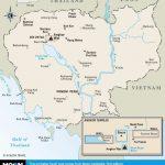 Printable Travel Maps Of Cambodia In 2019 | Cambodia | Cambodia   Printable Map Of Cambodia
